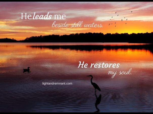 He leads me beside still waters (1)